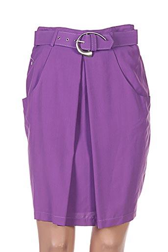 Jupe mi-longue violet ADOLFO DOMINGUEZ pour femme