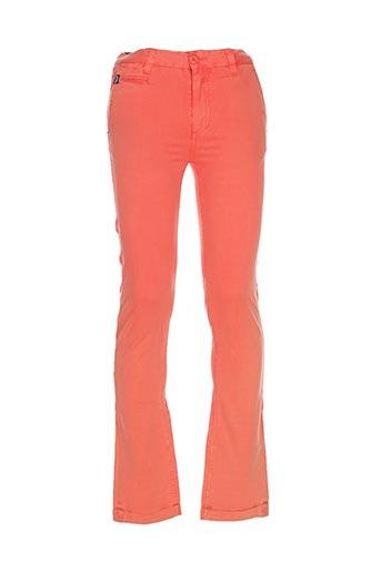 Pantalon casual orange KAPORAL pour garçon