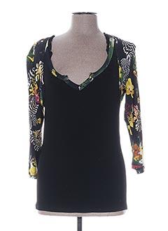 T-shirt manches longues noir GARELLA pour femme