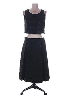 Top/jupe noir CHRISTIE DE LA RUE pour femme