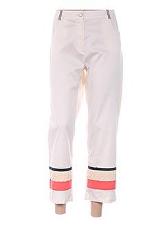 Pantalon 7/8 beige LESLIE pour femme