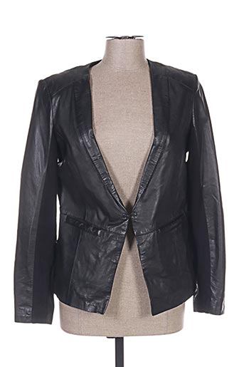 Veste en cuir noir IMITZ pour femme