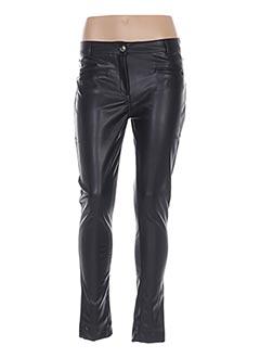 Pantalon casual noir MENSI COLLEZIONE pour femme