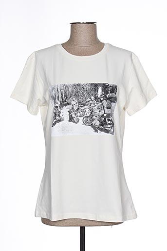 T-shirt manches courtes blanc BARBOUR pour femme
