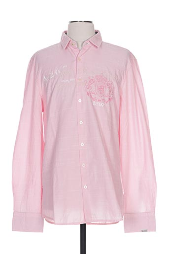 Chemise manches longues rose GAASTRA pour homme