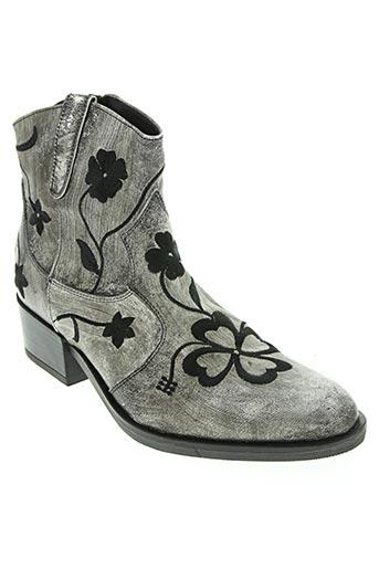 morena gabbrielli chaussures femme de couleur gris