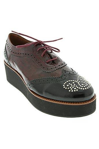 lundi bleu chaussures femme de couleur rouge