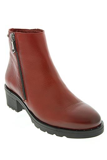 paula urban chaussures femme de couleur rouge