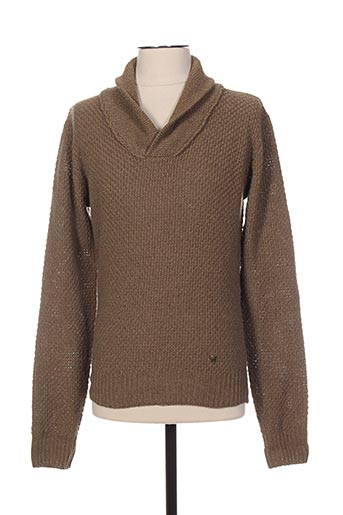 Pull col châle beige RED SOUL pour homme