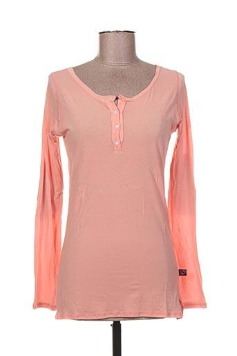 T-shirt manches longues orange I LOVE MY T'S pour femme