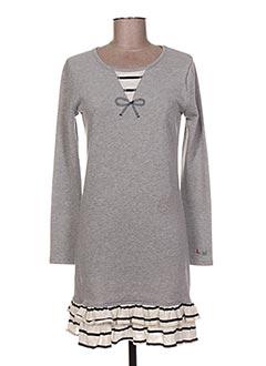 Robe courte gris LITTLE MARCEL pour femme