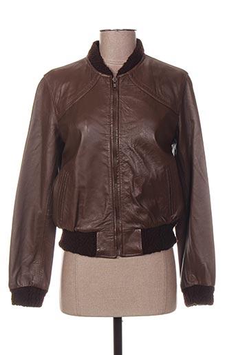 Veste en cuir marron KILIWATCH pour femme