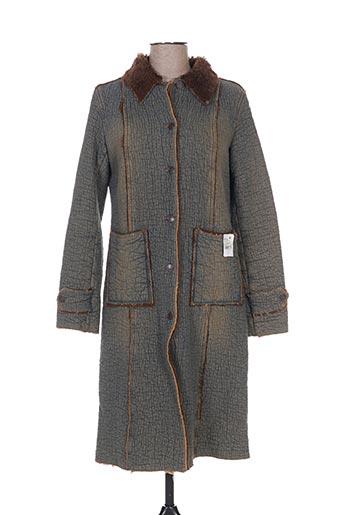 Manteau long bleu CHEYENNE pour femme