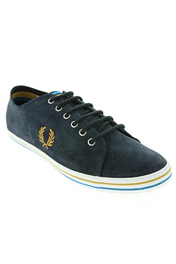 fred perry chaussures unisexe de couleur bleu