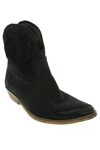 Bottines/Boots noir ETIK pour femme