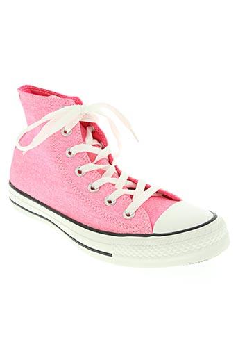 converse chaussures femme de couleur rose