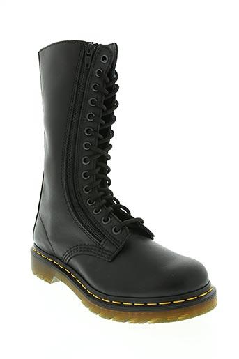 dr martens chaussures femme de couleur noir