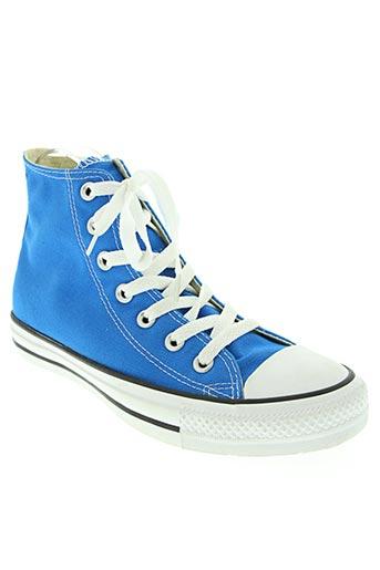 converse chaussures femme de couleur bleu