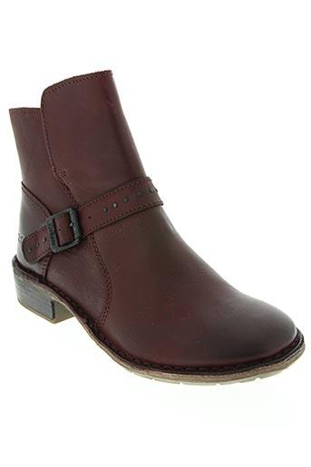 kickers chaussures femme de couleur rouge