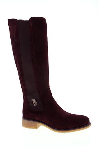 u.s. polo assn chaussures femme de couleur rouge