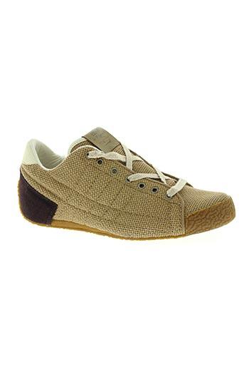 le coq sportif chaussures femme de couleur marron