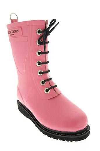 ilse jacobsen chaussures fille de couleur rose