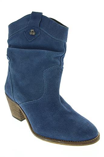 le temps des cerises chaussures femme de couleur bleu
