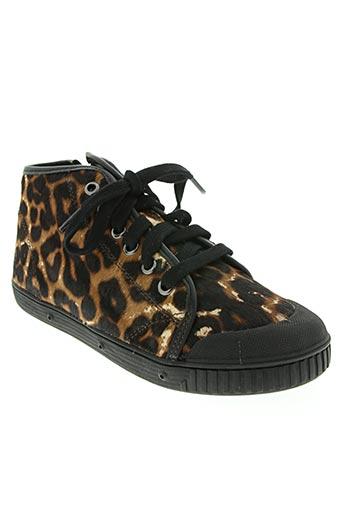 spring court chaussures fille de couleur marron