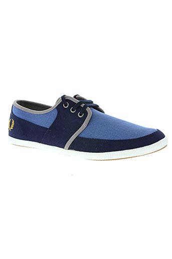 fred perry chaussures homme de couleur bleu