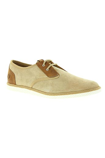 fred perry chaussures homme de couleur beige