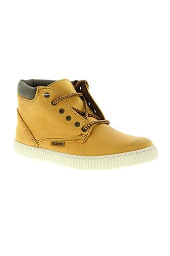 victoria chaussures garçon de couleur jaune