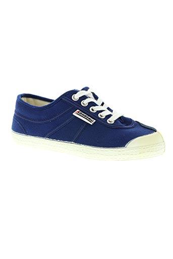 kawasaki chaussures femme de couleur bleu