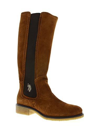 u.s. polo assn chaussures femme de couleur marron