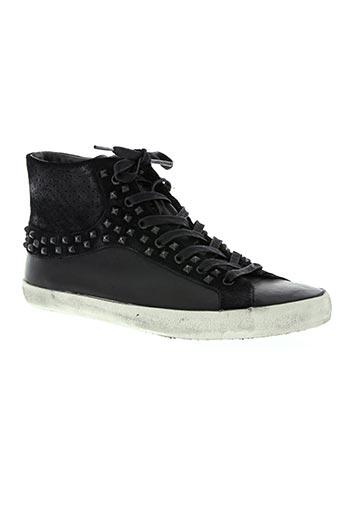 crime chaussures homme de couleur noir