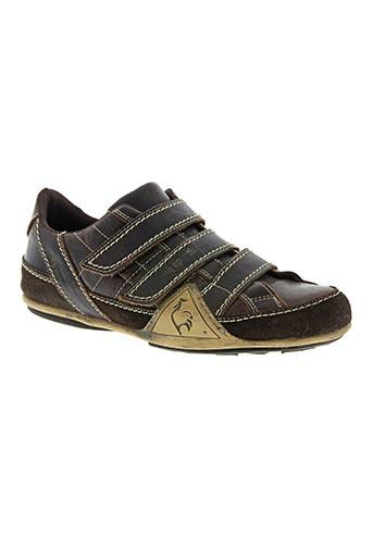 le coq sportif chaussures homme de couleur marron