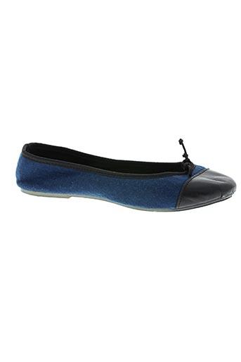 Chaussons/Pantoufles bleu THE FRENCH TOUCH pour femme