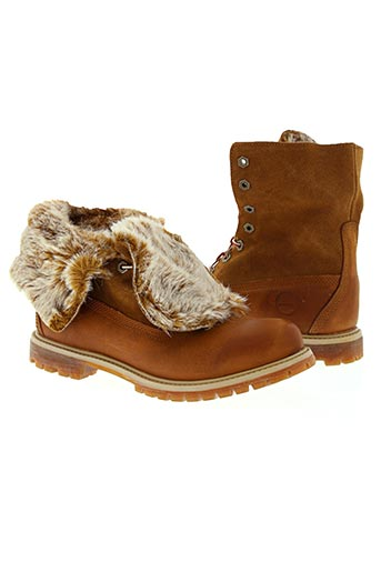 timberland chaussures femme de couleur marron
