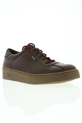 snipe chaussures homme de couleur rouge