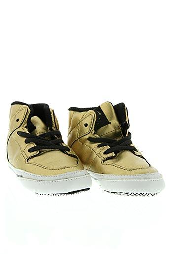 supra chaussures enfant de couleur jaune