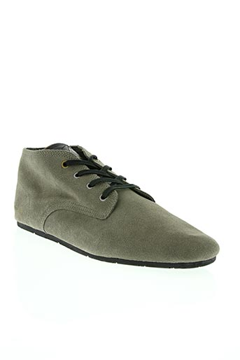 eleven paris chaussures homme de couleur gris