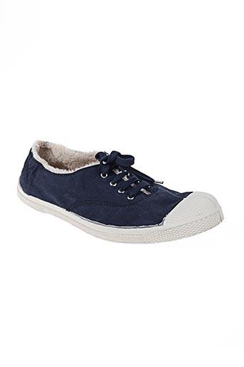 bensimon chaussures homme de couleur bleu