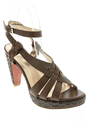 mare chaussures femme de couleur marron