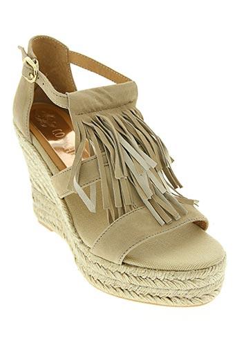 conchisa chaussures femme de couleur beige