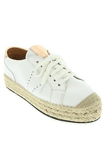conchisa chaussures femme de couleur blanc