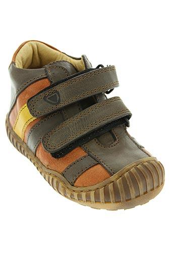 rap chaussures garçon de couleur marron