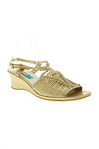 Sandales/Nu pieds jaune ARNOUX pour femme