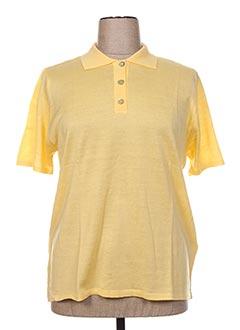 Pull col chemisier jaune FIL & MAILLE pour femme