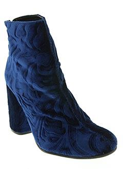 Bottines/Boots bleu ELYSESS pour femme