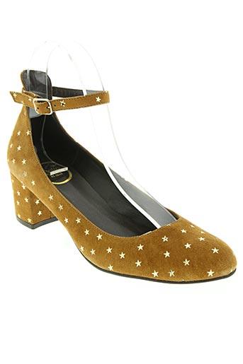 polin et moi chaussures femme de couleur beige