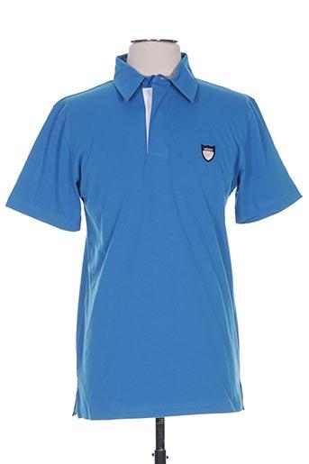 Polo manches courtes bleu CAMBE pour homme